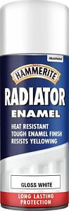 Hammerite-Radiator-Enamel-Gloss-White-Aerosol-Spray-Paint-Care-Restore-400ml