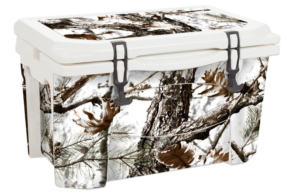 USATuff Decal Wrap Full Kit fits Grizzly 60qt Cooler Snow Camo