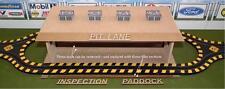 HO Laser-cut Pit Lane, Inspection Station, Paddock Structure Kit