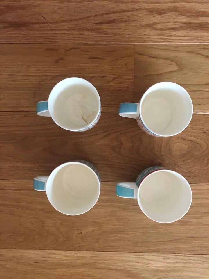 Porcelæn, 4 x kopper