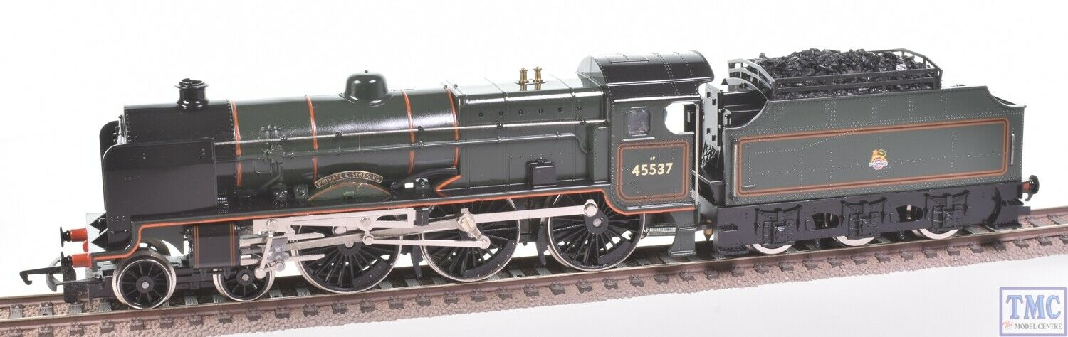 R578 Hornby OO Patriot 45537 Private E Sykes Coal Crew & GlossedPreOwned