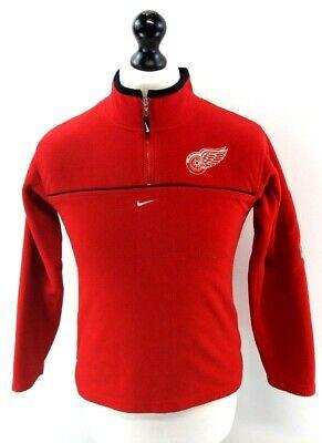 Nike Nhl Ragazzi Maglione Pullover 12-14 Anni M Medium Rosso Poliestere 1/4 Zip-mostra Il Titolo Originale Sconti