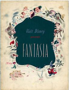 DISNEY-039-S-FANTASIA-1940-Release-US-Program-VG-CONDITION