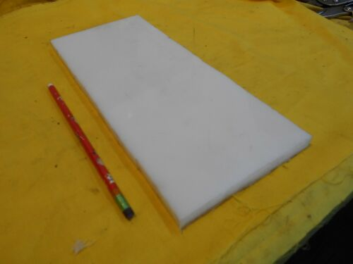 "NATURAL HDPE BAR machinable plastic flat sheet stock 1//2/"" x 5/"" x 12/"""
