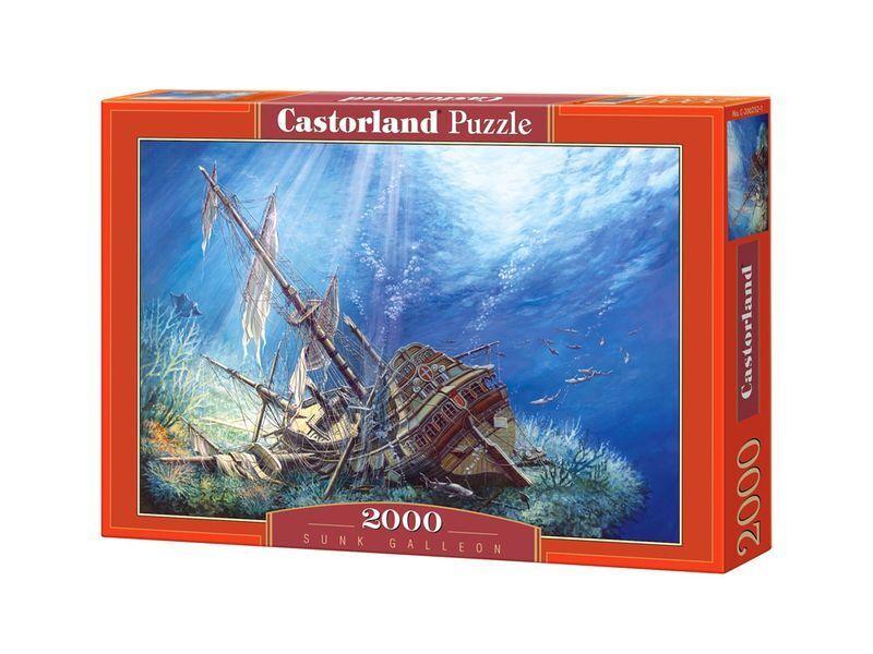 Castorland Puzzle 2000 Pieces - Sunk Galleon 92x68cm 36 x27  Sealed box C-200252