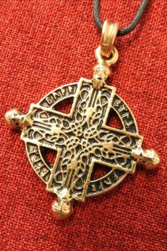 Beserker Cross Norse Warrior Viking Gold Northern Man Plated Pendant Necklace