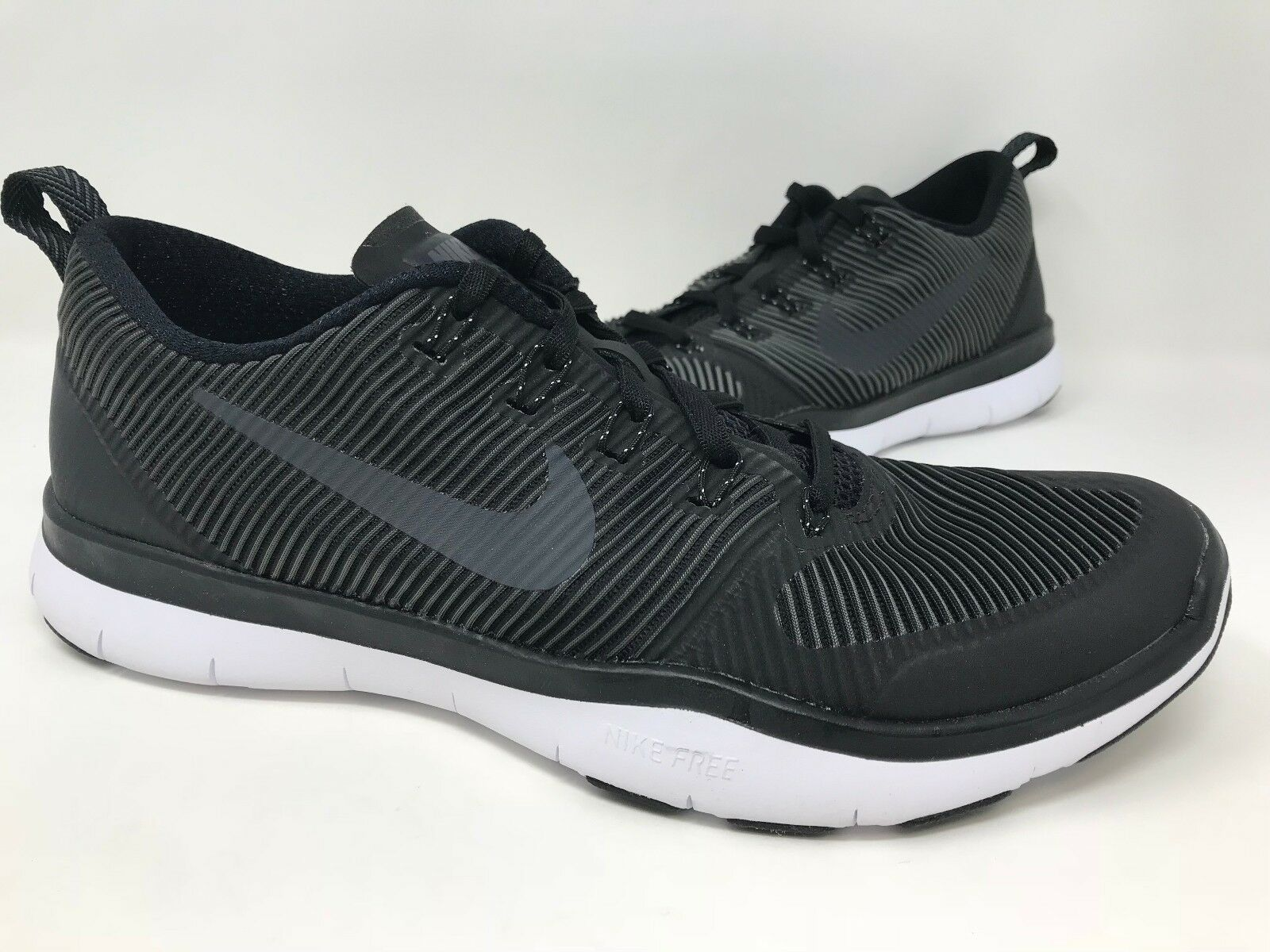 New! Men's Nike 833258-001 Free Train Versatility Training Shoes - Blk/Wht A10