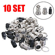 10 Set Aviation Plug 23456pin Female Panel Metal Wire Connector 12mm Gx12