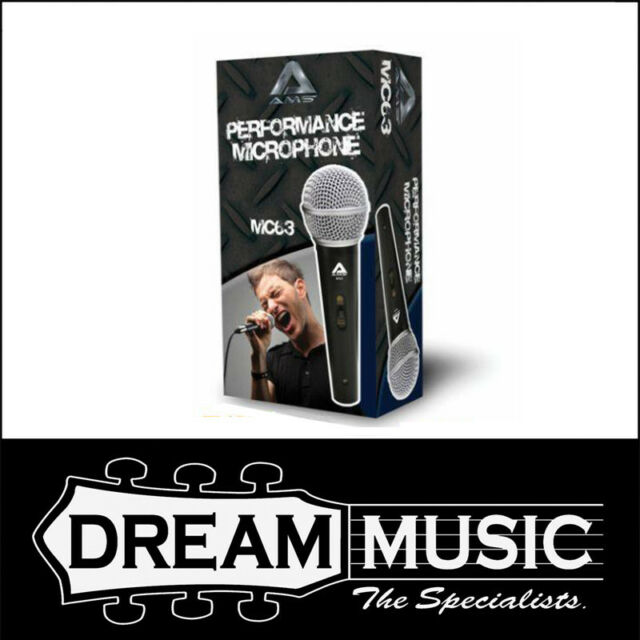 AMS Performance Microphone MC63 Uni Directional Dynamic Vocal Microphone Pack