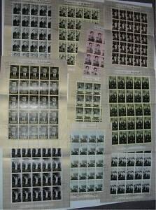 FUJEIRA 1965 J.F KENNEDY SET in FULL SHEETS FINE USED...SG28-37...cv £293