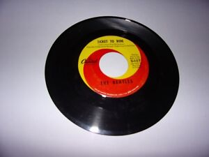 The-Beatles-Ticket-To-Ride-Yes-It-Is-45-Rpm-1964-Capitol-5407-VG
