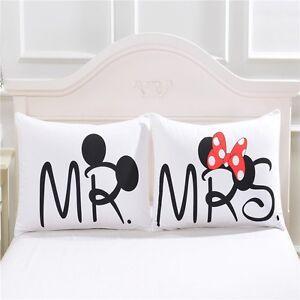 Federe minnie e topolino lui e lei federa cuscino letto tre varianti fidanzati ebay - Completo letto minnie e topolino ...