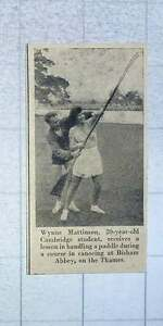 1953-Wynne-Mattinson-Cambridge-Student-Learns-To-Handle-A-Paddle