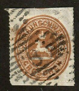 Brunswick-stamp-26-used-3gr-brown-1865-SCV-160