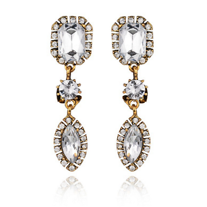 Elegant-Women-White-Rhinestone-Crystal-Drop-Ear-Stud-Dangle-Earrings-Jewelry