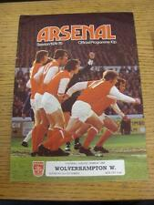 02/11/1974 Arsenal v Wolverhampton Wanderers  (Number On Back)