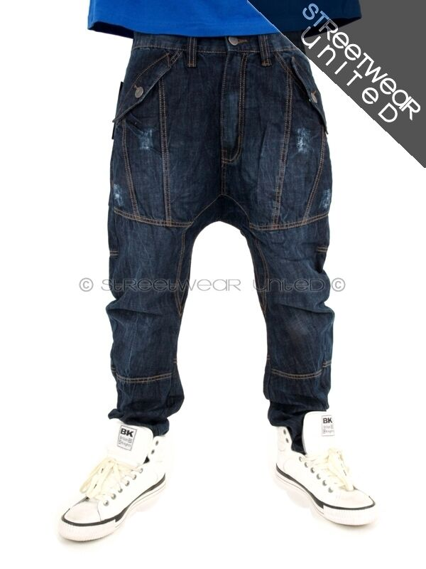 Streetwear Premium Extra Tiefer Schritt Karotten Jeans  | New Style  | Hochwertig  | Quality First