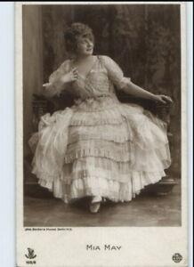 1910-20-Echtfoto-AK-MIA-MAY-Stummfilm-Star-Schauspielerin-Film-und-Buehne