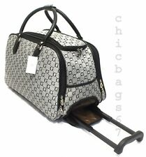 39e126117 CABIN TRAVEL BAG WHEELED LIGHTWEIGHT SUITCASE HAND LUGGAGE TROLLEY CASE  HOLDALL