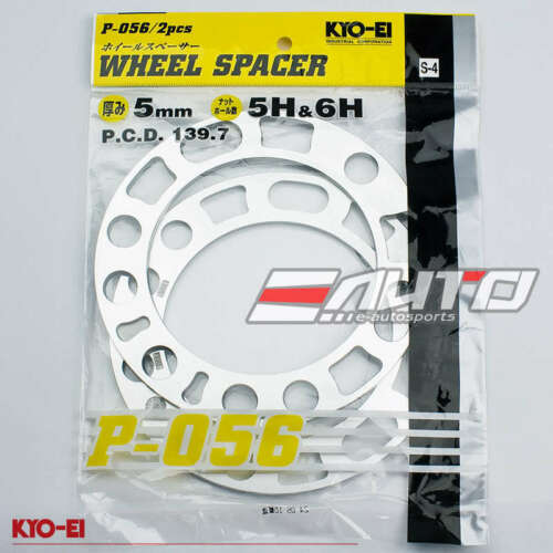 JDM KICS KYO-EI 2pc 5mm Rim Wheel Spacer Adapter 5x139 6x139 5H 6H PCD 139.7 b
