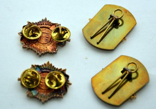Genuine British Army Military Collar Metal Regimental Badges Animo Et Fide #9