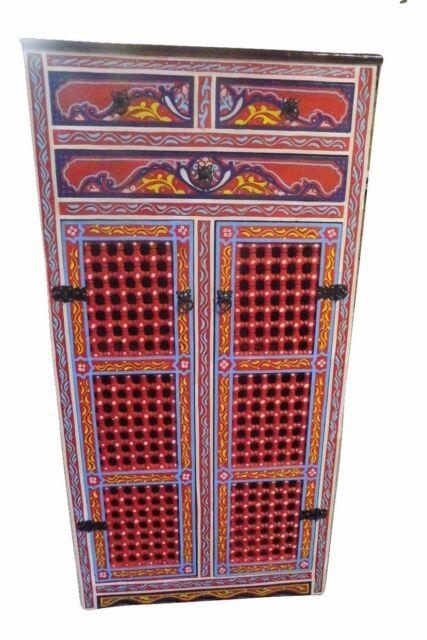 Handpainted Moroccan Cabinet Handmade Red