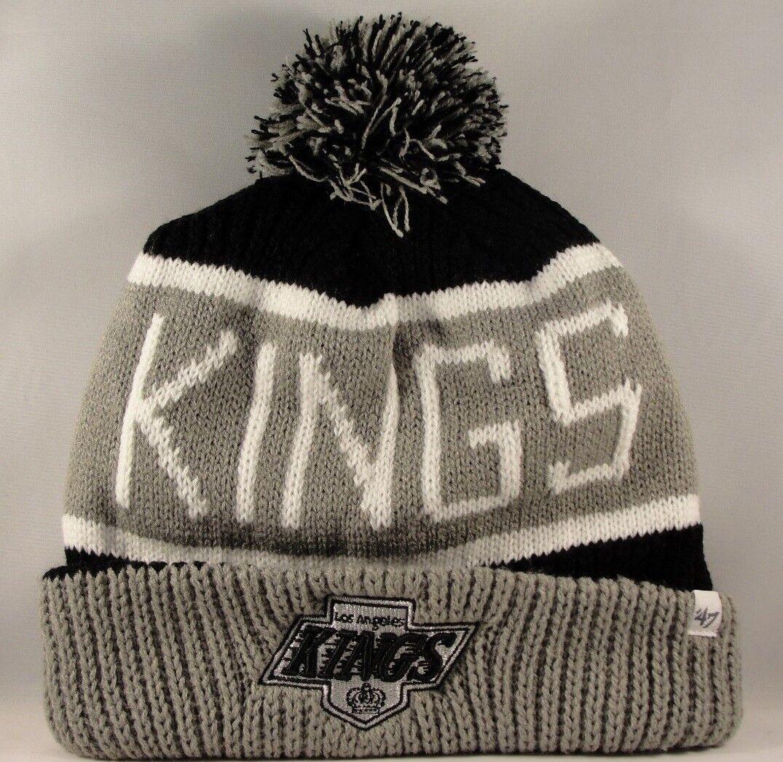 8ec86f4b595 Los Angeles Kings NHL Cuff Knit Pom Hat 47 BRAND Calgary for sale ...