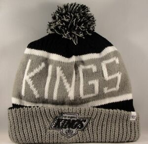 85cbd449d02 Los Angeles Kings NHL Cuff Knit Pom Hat 47 Brand Calgary ...