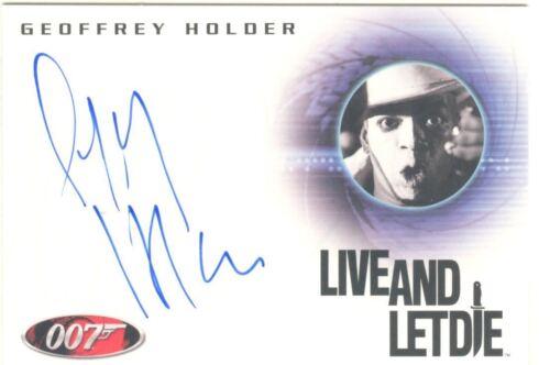 James Bond Heroes /& Villains Autograph Card A124 Geoffrey Holder