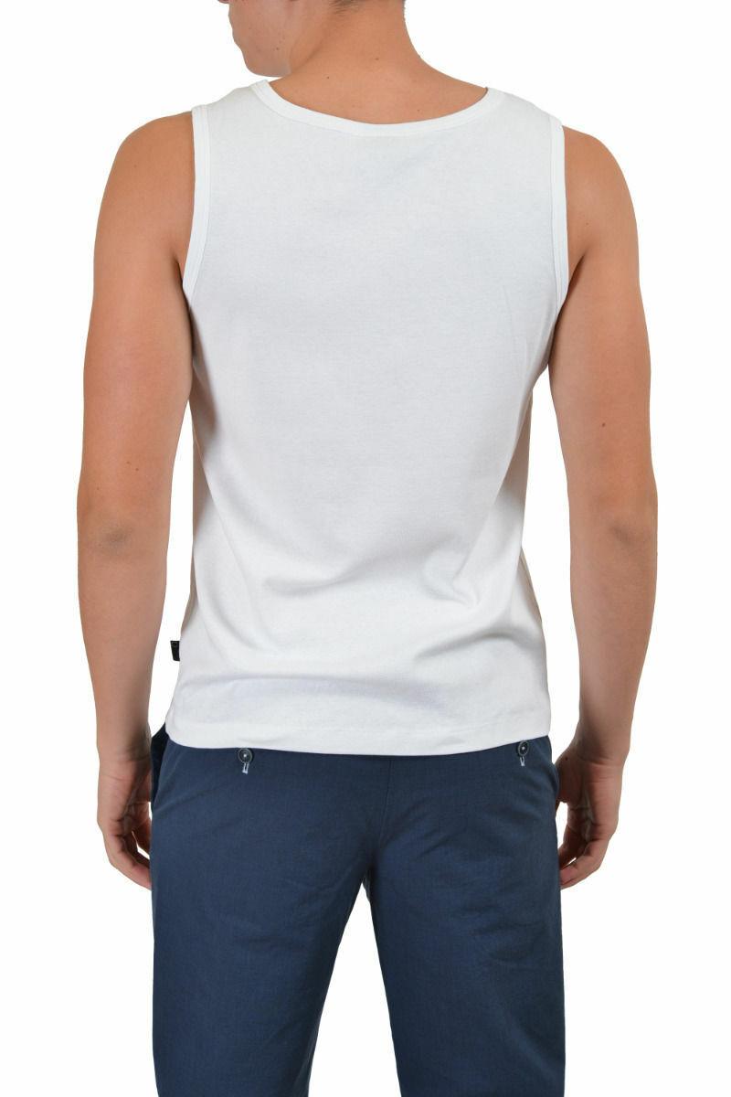 Just Cavalli Hombre blancoo Cuello Cuello Cuello rojoondo Camiseta de Tirantes Us M 2XL 935146