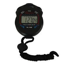 De mano Digital LCD Cronógrafo Deportivo Counter Cronómetro Temporizador Negro