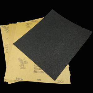 10pcs 120-2000 Grit Car Polished Wet Dry Waterproof Abrasive Sandpaper