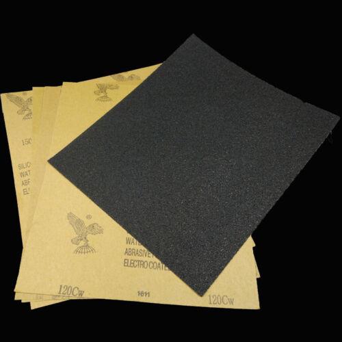 10pcs 120-2000 Grit Car Polished Wet Dry Waterproof Abrasive Sandpaper