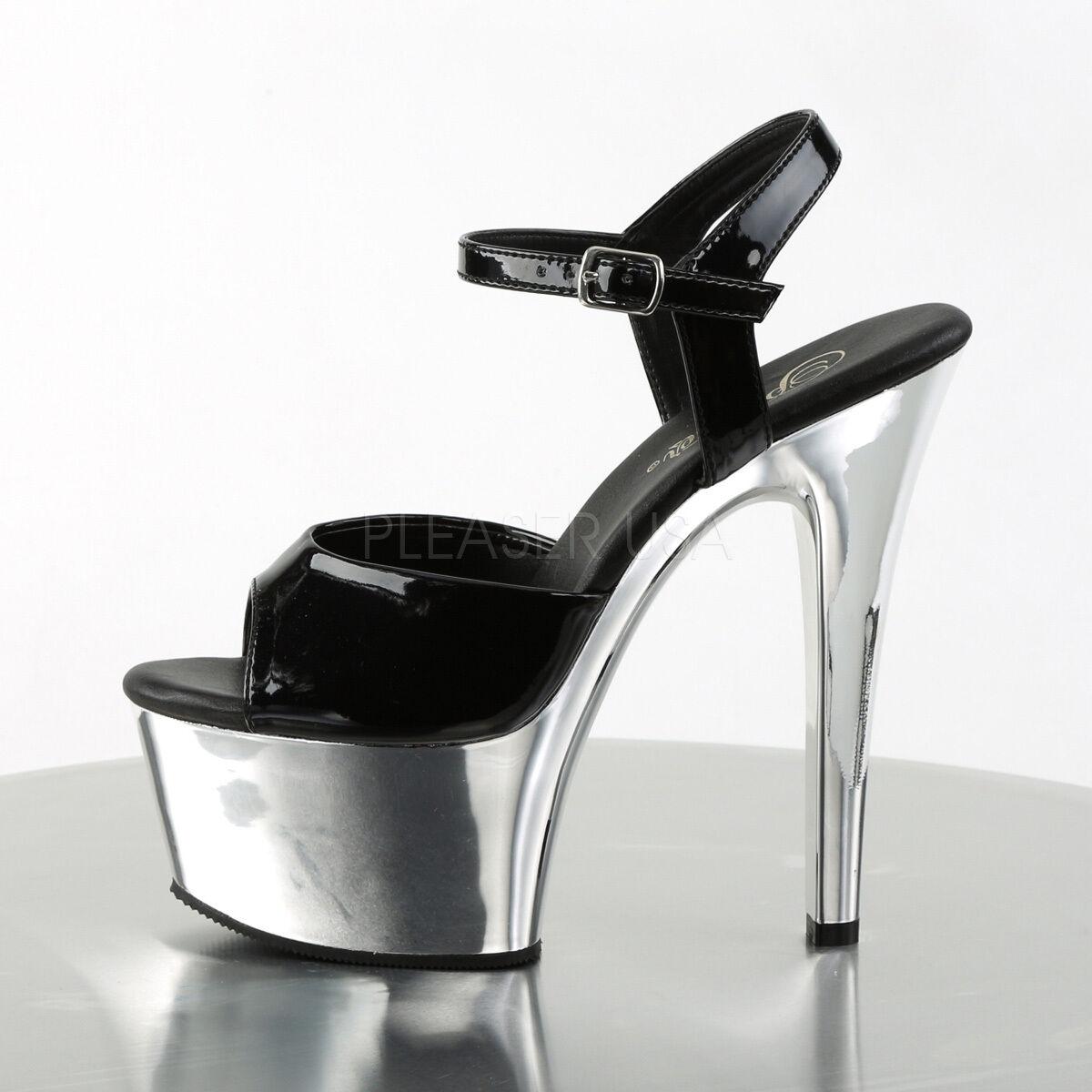Pleaser schuhe Sexy Stripper Dancer Most Comfortable High Heel Heel Heel Chrome Platform 72b048