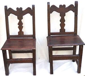 rustic spanish furniture. Image Is Loading Antique-Folk-Art-Pair-Rustic-Spanish-Carved-Wood- Rustic Spanish Furniture