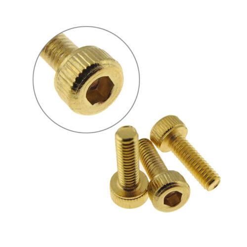 M2 12mm Hex Socket Head Cap Screw Bolt Gold Chromate 5 QTY