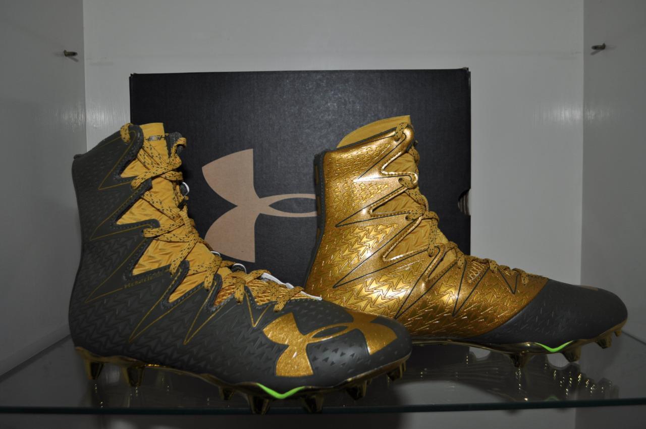 Under Armour Armour Under Uomo Highlight MC LE Football Cleats verde/oro 1275479 333 NIB 5fe9e1