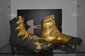 dd30f8bfc44 Under Armour Mens Highlight MC LE Football Cleats Green Gold 1275479 ...