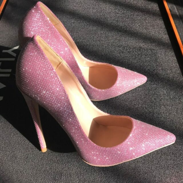 so Kate 12mm Pink Glitter Heel Shoes