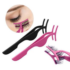 081ab54a691 2/4pcs 3D Magnetic False Eyelash Tweezers Curler Applicator Makeup ...