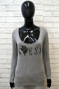 Maglione-GUESS-Felpa-Donna-Taglia-Size-M-Pullover-Sweater-Cardigan-Grigio-Woman