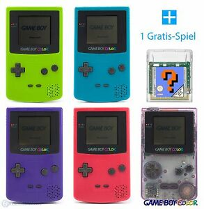 GameBoy-Color-Konsole-Farbe-nach-Wahl-GRATIS-Nintendo-GBC-Spiel-TOP