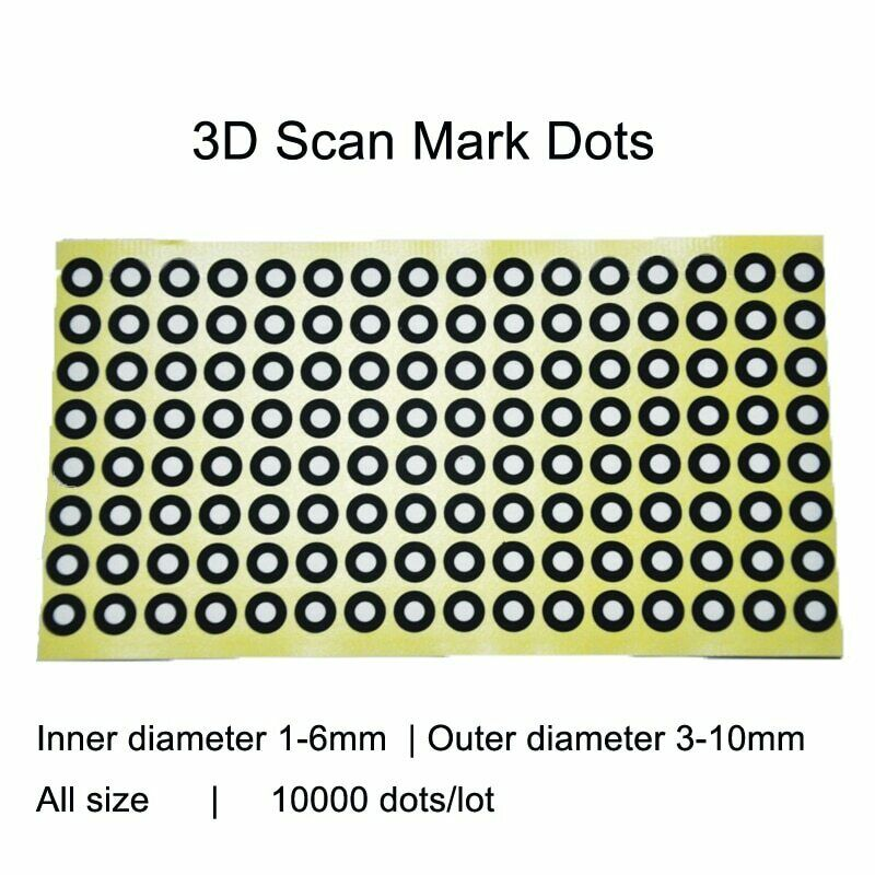 10000 Points Photographic 3D Scanner Marking Points Identifying Label Dot