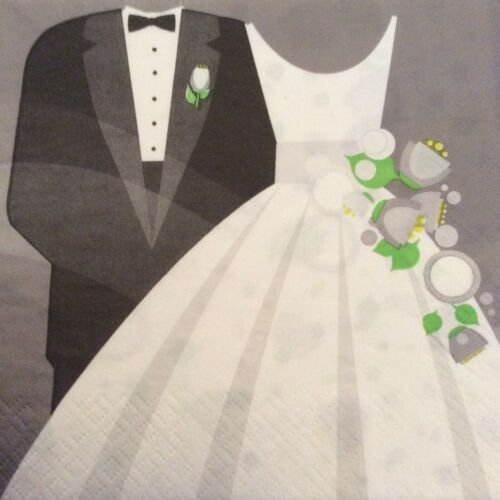 Serviettes en papier découpage X 2 MARIAGE 33 cm