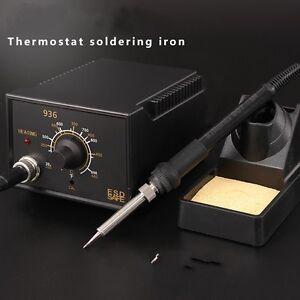 hot sale soldering station 936 60w iron tool solder welding esd safe 110v us. Black Bedroom Furniture Sets. Home Design Ideas