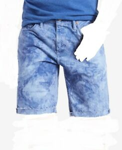 11a855615932be Details about  125 LEVI S 40W Men s BLUE WHITE 511 SLIM FIT CUTOFF RIPPED DENIM  JEAN SHORTS