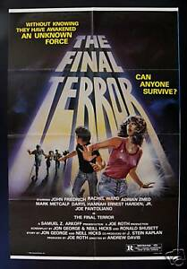 El último Terror Cinemasterpieces Original Movie Poster 1983 Horror Ebay