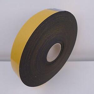 Single sided black foam tape - 5mm thick x 25mm wide x 10 metres long