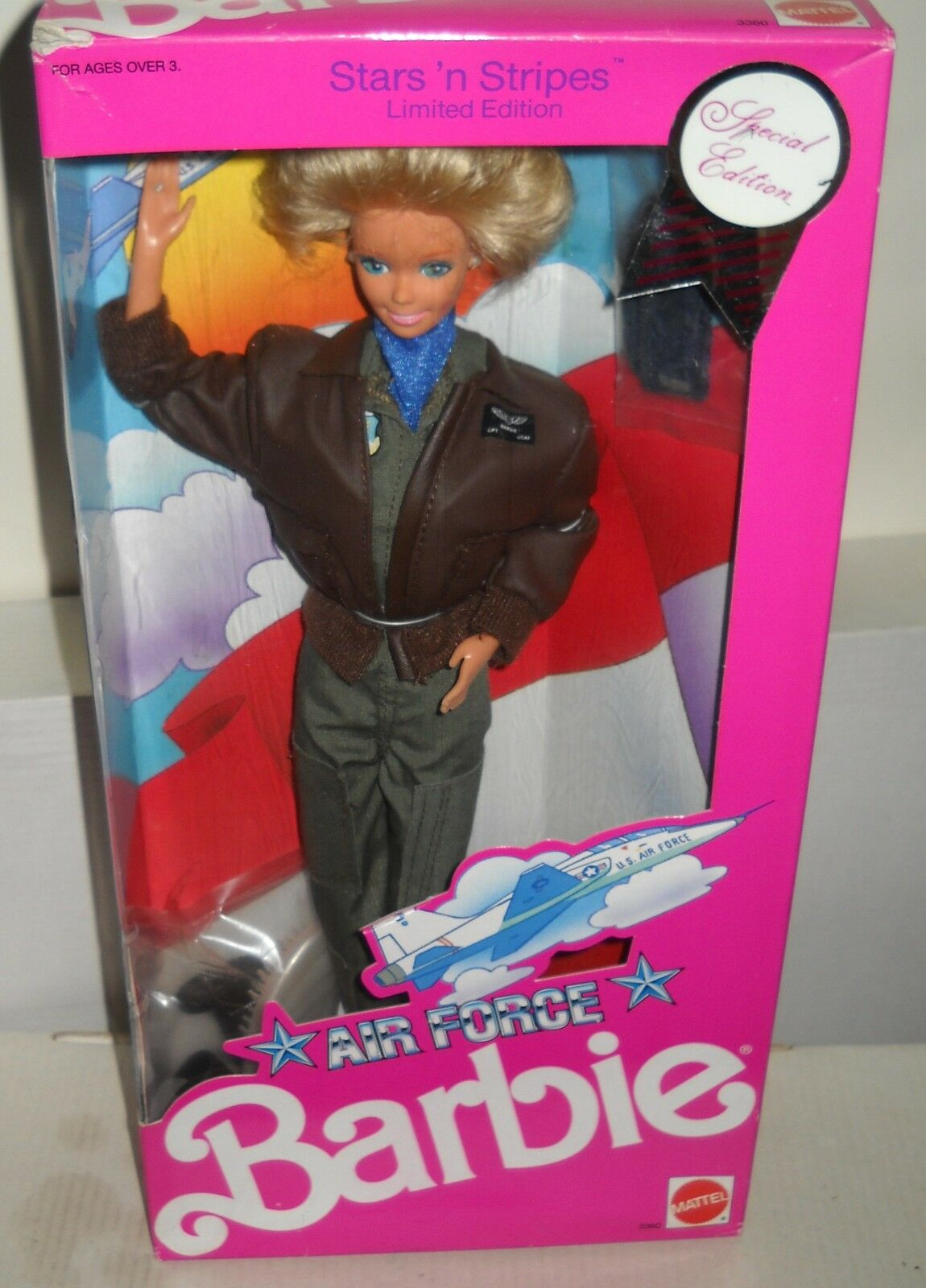 Nunca quitado de la Caja Mattel militar Stars & Stripes Muñeca Barbie Moda de la fuerza aérea