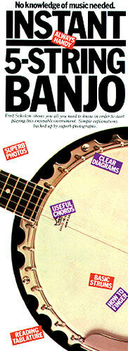 Instant 5-String Banjo Learn to Play Fred Sokolov Beginner Lesson Music Book
